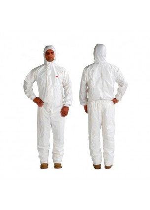 3M 4545 Beyaz Lamine Özel Ambalajlı Tulum (M) / Biyolojik Koruma