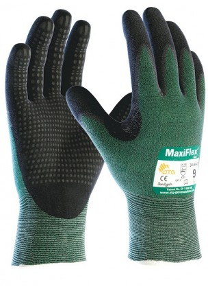 Atg MaxiFlex® Cut™ 34-8443 Dotlu Palm Kesilmeye Dayanıklı İş Eldiveni